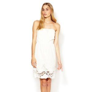 Maje white strapless sundress size 1